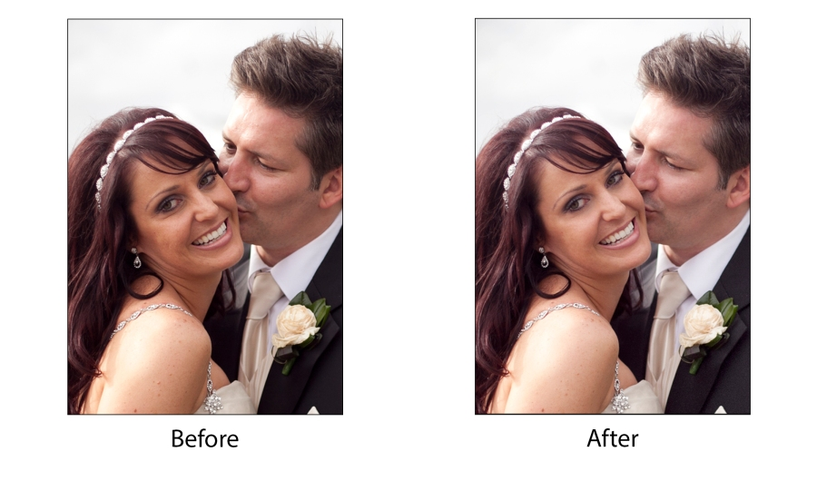 Before and After Wedding Clean Skin