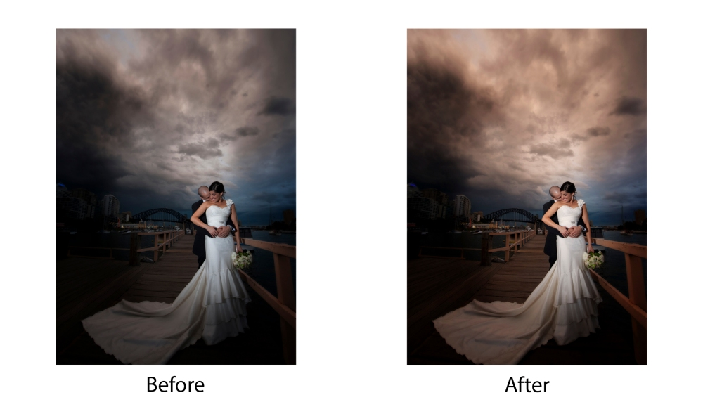 Before and After Wedding Sky Colour